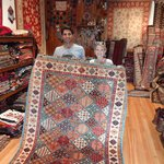 Osman and one of our carpets.