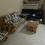 Lounge area - wall mounted tv