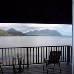 view of Kaneohe Bay from our room