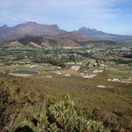 the view over the Franschoek valley towards Cape Town