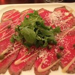 Superb Wagyu Carpaccio starter