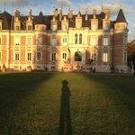 Château, avant le coucher du soleil