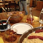 Couscous served with tasty sausages