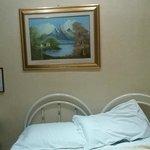 chambre (lit 2 personnes) 2 lits  d 1 place reunis