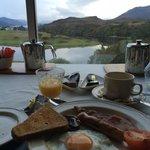Desayunando con unas fantásticas vistas