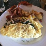 Omlette with bacon