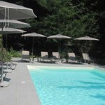 Chlorine-free heated swimming pool