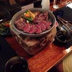 Wagyu beef tobanyaki