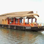 Tourists in the Houseboat at Alleppey