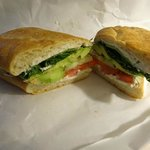 Veggie boursin sandwich