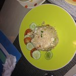 Chicken Fried Rice at THB100, tasty and reasonable price.