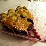 Slice of jumbleberry pie (blueberry, raspberry and blackberry)