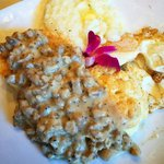 Biscuits and Sausage Gravy with Grits