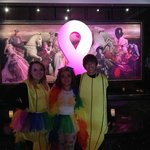 Lobby in October (kids dressed for Katy Perry concert)