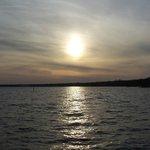 sunset over Lake Waccamaw