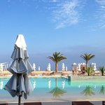 Pool view.  Double Tree Hilton, Paracas