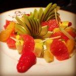Petite salade de fruits improvisée