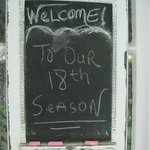 Loved this note on the front door.