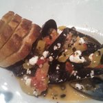 Mussels in wine brooth