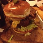 What a burger - with cheese and bacon!