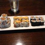 Spicy tuna roll, California Roll, Salmon avacado