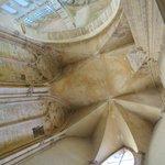 Interior roof of ruins of Basilica