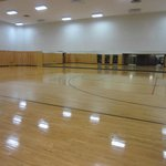 Basketball room in gym