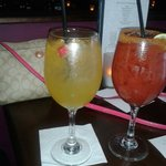 White sangria & bloody mary happy hour :)