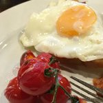 Best English breakfast I have ever had.  The cherry tomatoes were still on the vine.