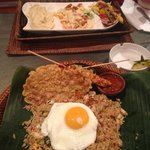 Nasi Goreng and Dijon Chicken