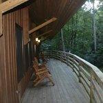 Huge deck overlooking the river