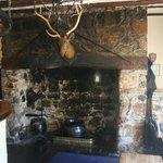 Huge old fireplace.