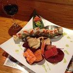 Sashimi and spicy tuna.