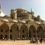 Picture taken from the courtyeard of the Blue Mosque