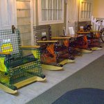 Such cool lobster trap chairs