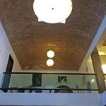 Vaulted brick ceiling