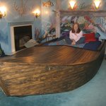 Great bed in a boat!
