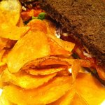 BLT with homemade chips