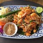 Phad Thai presented exquisitely.