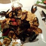 Mussels and clam pasta