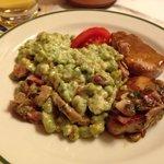 Spätzli agli spinaci buonissimi! Come pure il maiale