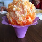 Medium creamsicle Hawaiian shaved ice