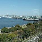 Scenic View from the Restaurant Overlooking Yokohama Harbor