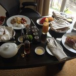 In-room breakfast at Fairmont, Makati