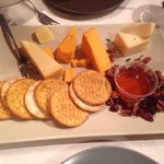 Cheese Please... Local cheeses, honey and walnuts.  The aged cheddar was exceptional.