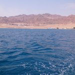 View across the Red Sea from the glass bottom boat
