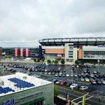 View of Gillette from our room in the 5th floor
