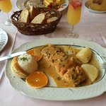 Вкуснейшее блюдо из лосося в апельсиновом соусе!:)