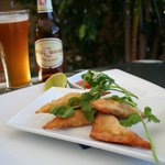 Crab and Prawn Wontons with Little Creatures Pale Ale