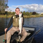 15 lb fresh slamon caught at Sprouston on The River Tweed whilst staying at Ednam House